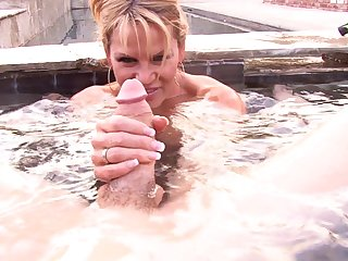 Great sex session in a conjoin with lovely MILF Kelly Madison