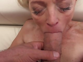 Sweet babe and stunning granny take a crack at pastime down big cocks