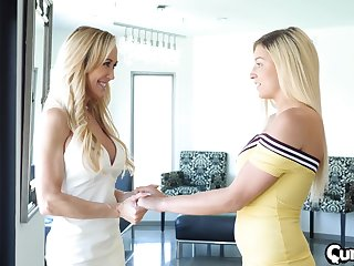 Blonde babes Brandi Love and Sophia Lux in a FFM threesome