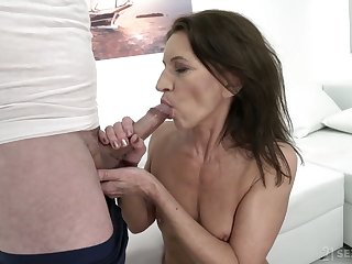 Dark haired whore with ugly aphoristic tits Viol is made with regard to ride strong cock