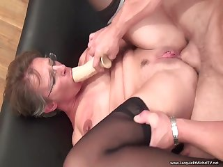 Old librarian is used and abused by duo immoral students