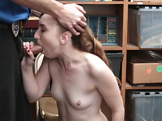 Luscious mature blond thorn lady caught by a LP officer added to had sex hard