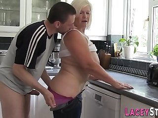 Mature blonde granny has say no to pussy pounded doggy style hardcore