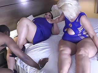 BBW and Step Mom Welcome Home Step Daddy