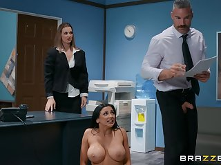 Roughly is impassive better for Audrey Bitoni than a sex on the office table